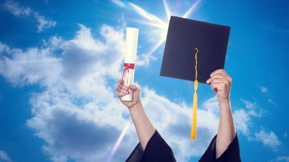 Premiere Credit of North America LLC- hand holding graduation cap and certificate America -