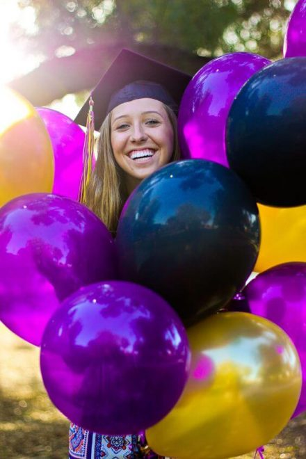 Allied Interstate Inc - happy student with ballons